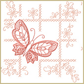 Butterfly Motif Embroidery Design Embroidery Design
