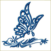 Fluttering Butterfly Embroidery Design Embroidery Design