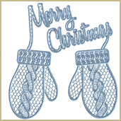 Christmas Gloves Embroidery Design Embroidery Design