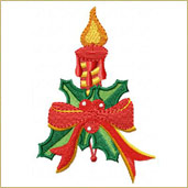 Christmas Candle Embroidery Design Embroidery Design