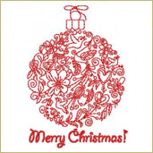 Christmas Greeting Ornament 2 Embroidery Design