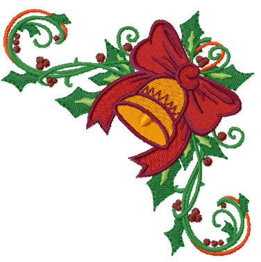 Christmas Bell - free machine embroidery design