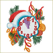Christmas Clock Embroidery Design Embroidery Design