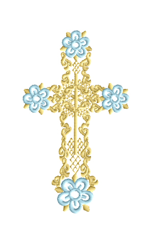 machine embroidery cross
