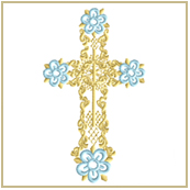 Easter Cross Embroidery Design Embroidery Design