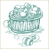 Easter Eggs Basket Embroidery Design