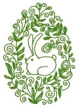 Designs, Easter Bunny Embroidery Design: ABC Free Machine Embroidery Designs.com  Designs