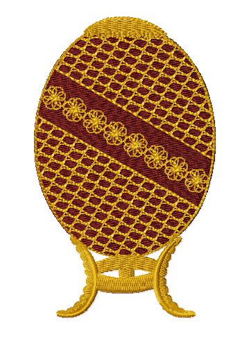 Faberge Egg Free Embroidery Design