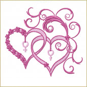Forever Hearts Embroidery Design