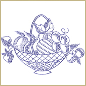 Fruit Bucket Embroidery Design Embroidery Design