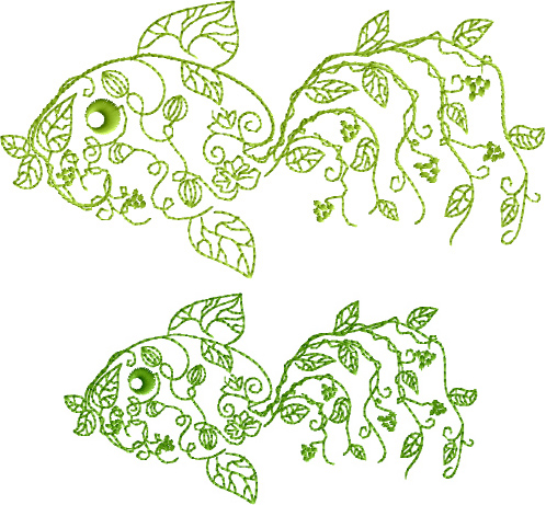 designs garden fish free embroidery design abc free