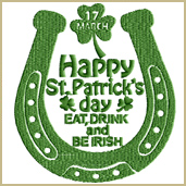 Be Irish Embroidery Design Embroidery Design