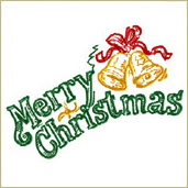 Merry Christmas Embroidery Design Embroidery Design