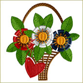 Patriotic Flower Embroidery Design Embroidery Design