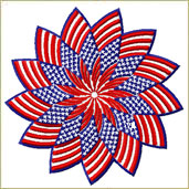Patriotic Star Patch Embroidery Design Embroidery Design