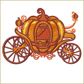 Pumpkin Carriage Machine Embroidery Design Embroidery Design