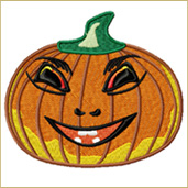 Cute Pumpkin Embroidery Design