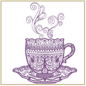 Tea Time Embroidery Design Embroidery Design