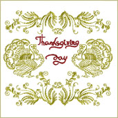 Thanksgiving Motif Embroidery Design Embroidery Design