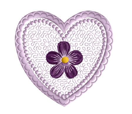 Schön Violet Valentine Free Embroidery Design