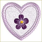 Violet Valentine Embroidery Design Embroidery Design