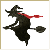 Witch on the Broom Embroidery Design Embroidery Design