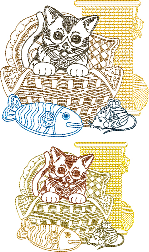 Cat-N-Yarn Free Embroidery Design